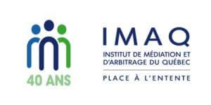 Logo - IMAQ 40 ans - Institut de Mediation et d'Arbitrage du Quebec